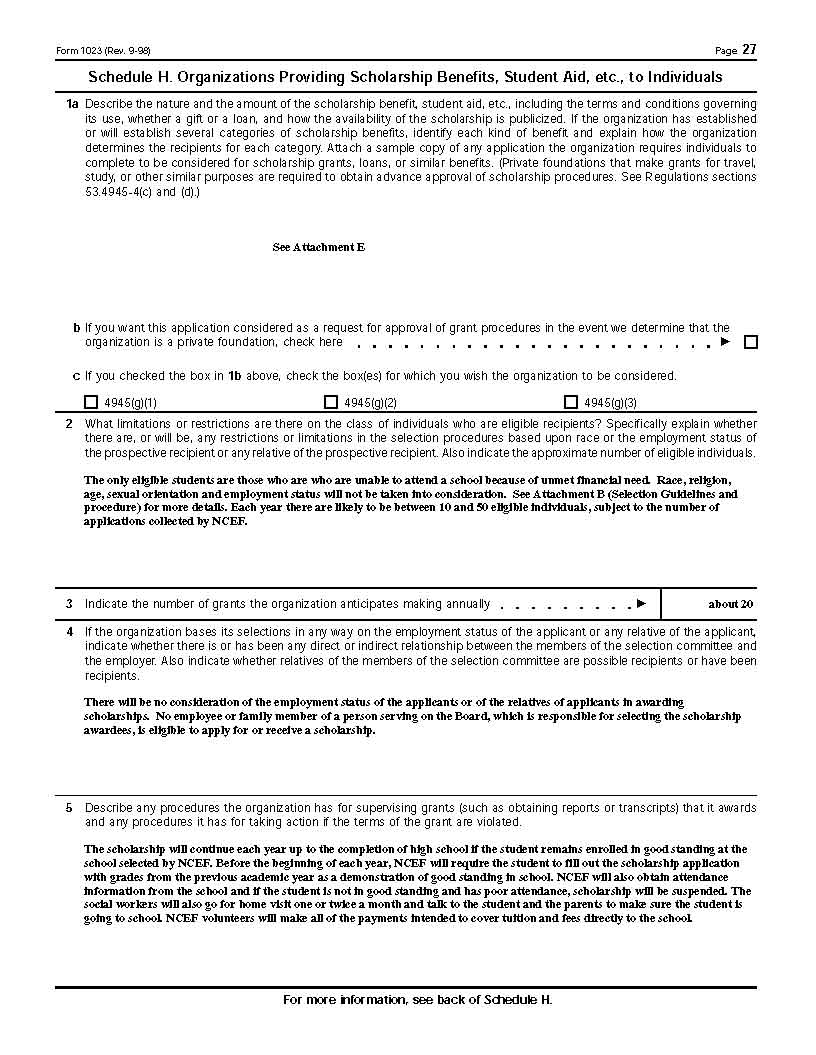 Application for 501c3 status irs form 1023 ncef nepalese page 12 of 32 falaconquin